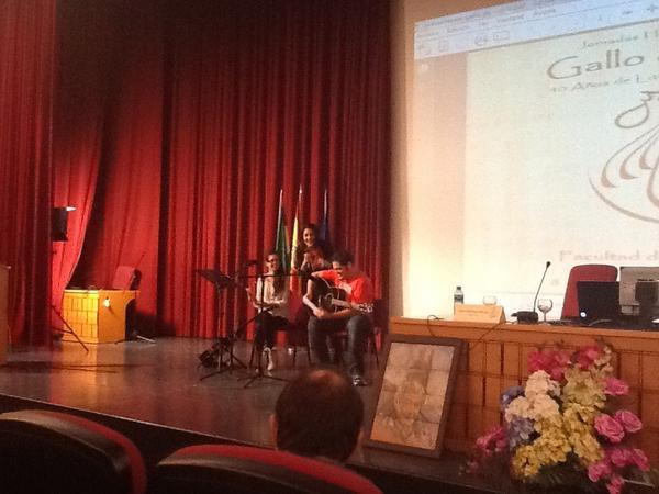 Sara Reig y Fabi+ín Rodr+¡guez en #gallodevidrio la nota musical m+ís actual!!!!